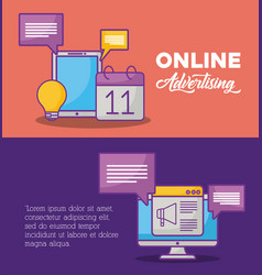 online advertising design vector image