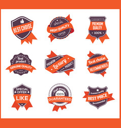 orange label marketing set 1 vector image
