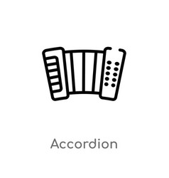 Outline accordion icon isolated black simple line vector