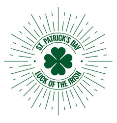 Patricks day logo irish stamp on white background vector