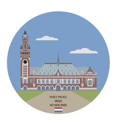 Peace Palace Hague vector