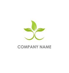 Plant seed organic logo vector