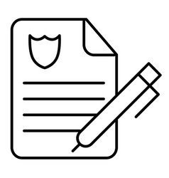 Police report thin line icon police order paper vector