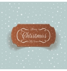 Realistic Christmas cardboard greetings Card vector
