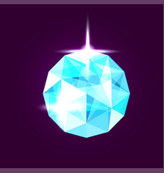Realistic topaz jewel gem vector