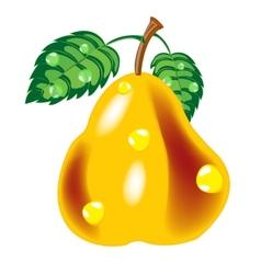 Ripe pear vector image