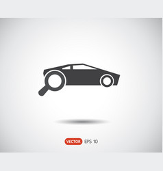 search car icon eps set logo vector image