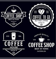 set of coffee shop logotype templates coffee vector image
