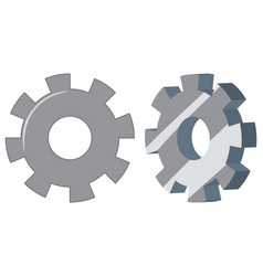 set of engineering gears vector image