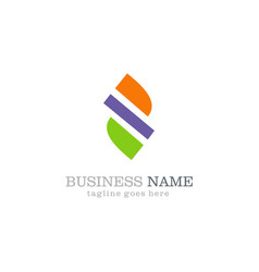 shape abstract business logo vector image