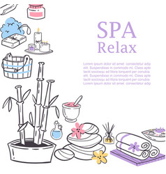 Spa relax for ladies health and beauty vector