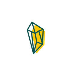 stone diamond gem logo template icon isolated vector image