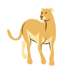 Stylized of lioness vector