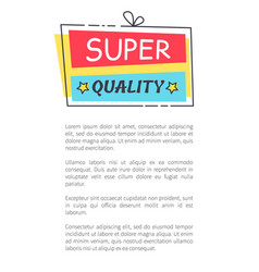 super quality promo sticker in square shape frame vector image