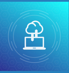 sync with cloud icon data upload synchronization vector image
