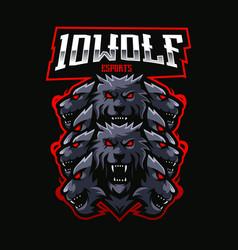 Ten wolves vector