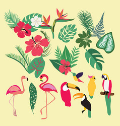 Tropical set of tropical elements vector