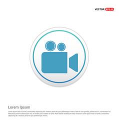 video camera icon - white circle button vector image