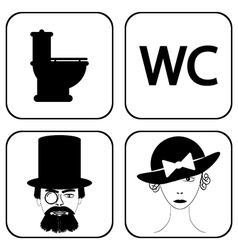 WC icons vector image