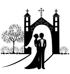 Wedding silhouette 9 vector