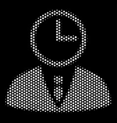 white dotted time manager icon vector image
