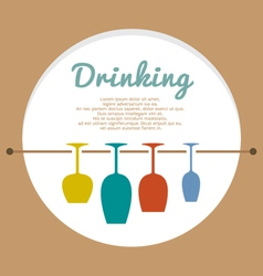 Wine lover concept vector