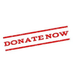 Donate Now Watermark Stamp vector image