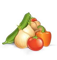 pile of vegetables vector image vector image