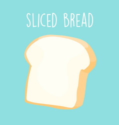 plain sliced bread vector image