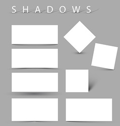 Set of evctor shadow effects vector image vector image