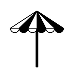 Umbrella beach isolated icon vector