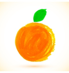 Bright watercolor marker painted orange vector image vector image