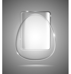 Lightened glass geometric shapes vector image vector image