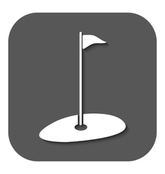 The golf icon Sport symbol Flat vector image