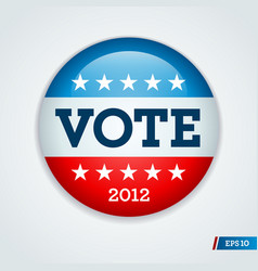 vote 2012 button vector image vector image