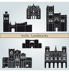 Avila landmarks and monuments vector image vector image