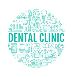 dentist orthodontics medical banner with vector image