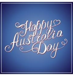 Happy australia day congratulation card vector