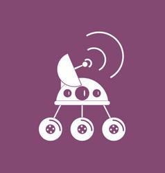 Icon spacecraft and satellite vector