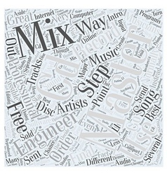 Intro To CD Mastering Word Cloud Concept vector image vector image