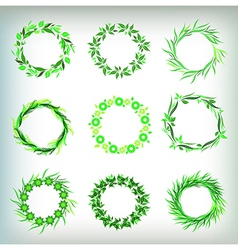 leafs design elements round vector image vector image