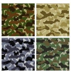 Pixel Camouflage Patterns vector image