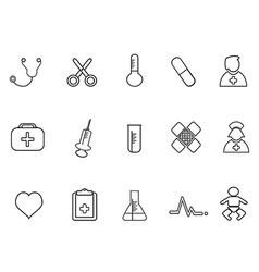 simple medical outline icon vector image vector image