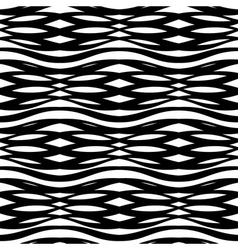 abstract monochrome seamless pattern crossed vawes vector image vector image