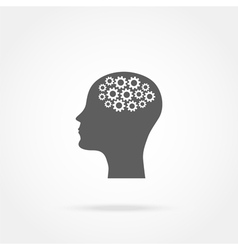 head of a man with a mechanism vector image