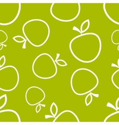 Pattern Circuit Apples vector image