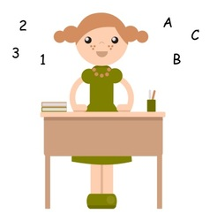 peg doll in school vector image
