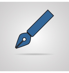 pen icon on gray background vector image vector image