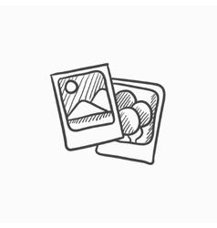Photos sketch icon vector image