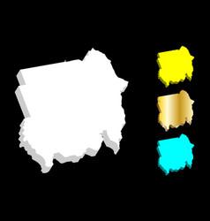 3d map of sudan vector image